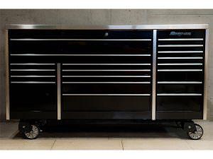 スナップオン KRL7023APC トリプルバンク MASTERシリーズ 工具箱 ステンレストップ 引出し数19 黒 ブラック
